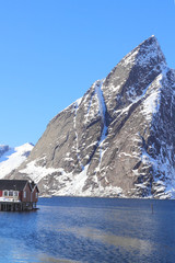 Hamnøy mount and rorbuer