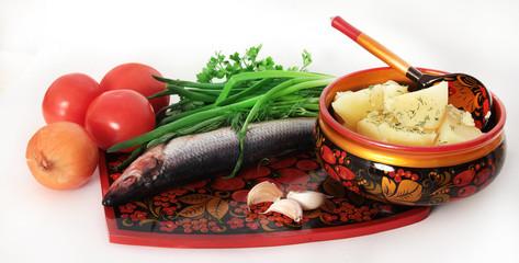 селедка и картошка