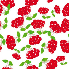 abstract seamless pattern with berries