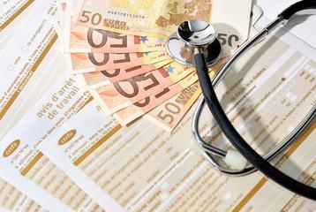 crise,finances,dette,argent,arrêt de travail,maladie
