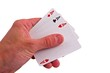three ace in a people hand
