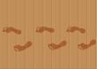 empreintes de pas sur un plancher