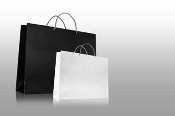 Premium paper bag in isolated background