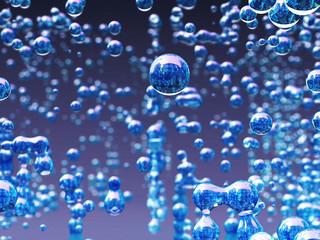MIcroorganismen blau