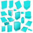 Cyan 3d blank cover collection