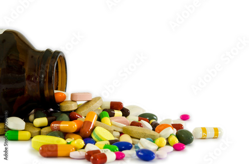 Drugs from the bottle (isolated)