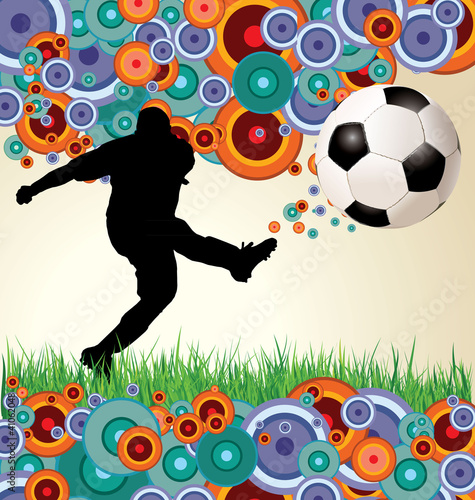 Retro soccer background