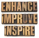 enhance, improve, inspire poster