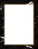 Black Marble Frame, copy space for poster, notice, announcement