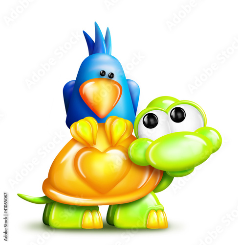 Turtle and Bird Buddies
