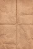 Crinkled grunge brown paper poster