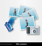eps Vector image: film camera