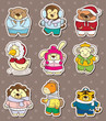 winter animal stickers