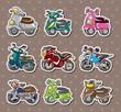 cartoon motorcycle stickers