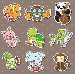 animal play music stickers