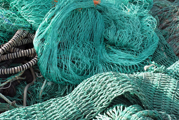 Closeup fishing net