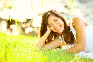 Summer girl in grass