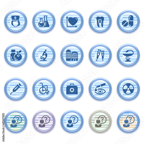 Blue web icons set 18