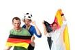 Fussballfans Gruppe
