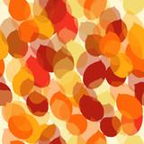 Cute seamless leaf autumn pattern in vector