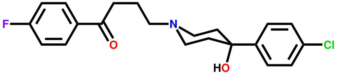 Antipsychotic drug haloperidol structural formula.