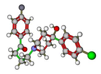 Antipsychotic drug haloperidol molecular structure