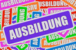 Sticker Collage Schild AUSBILDUNG