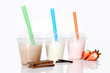 Milchmixgetränk in verschiedenen Geschmacksrichtungen