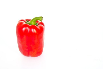 Red sweet peppers isolated on a white background