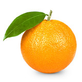 Fototapety Ripe orange isolated on white background