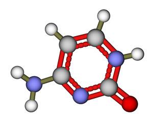 Nucleobase cytosine molecular structure
