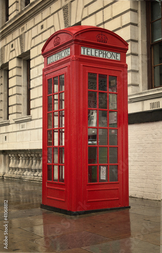 Classic London telephone booth