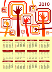 Funky hands calendar design 2010.
