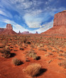 The famous cliffs Mittens in Monument Valley