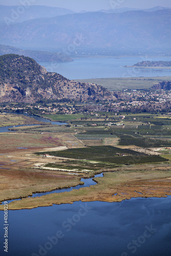 Iztuzu beach and delta of Dalyan river
