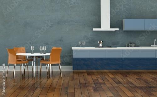 Wohndesign wohnk che blau stockfotos und lizenzfreie for Wohndesign blau