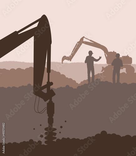 Hydraulic drilling machine , construction machinery equipment ve