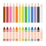 Fototapety 色鉛筆とクレヨン