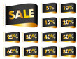 Stitching Label Sale Percent Gold/Black