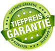 """Button Banner """"Tiefpreis-Garantie"""" grün"""