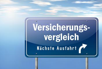"""Autobahnschild """"Versicherungsvergleich"""""""