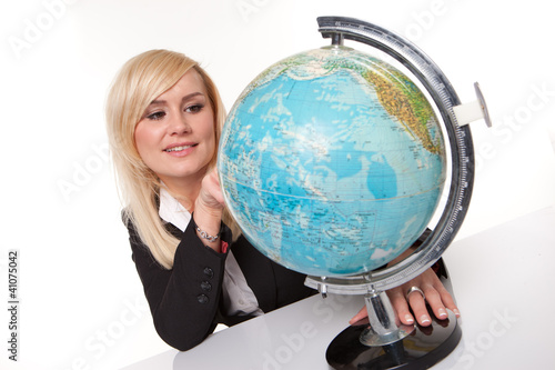Woman planning her dream holiday