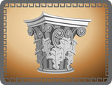 Corinthian Column Head poster
