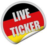 Sticker srg rund curl unten LIVE TICKER poster