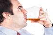 Businessman drinking whisky