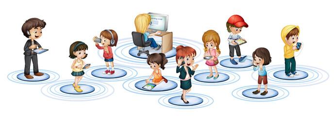 Communication technology concept