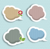 Speech bubbles & scrapbook elements