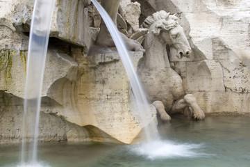 Fontana dei quattro fiumi (Bernini) – Il Cavallo