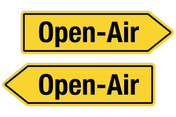2 Pfeilschilder gelb OPEN-AIR