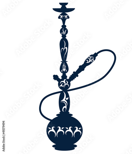 hookah with a pattern for the vector